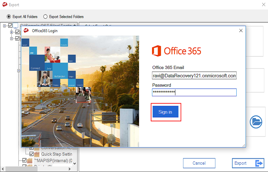 upload ost to office 365